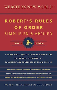 Robert's Rules of Order Simplified and Applied